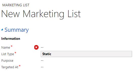 Net IT CRM blog: marketing list type list