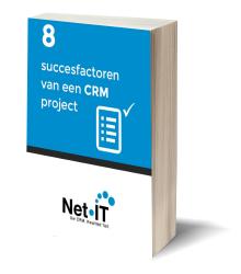cover NetIT ebook 8 succesfactoren van een CRM project