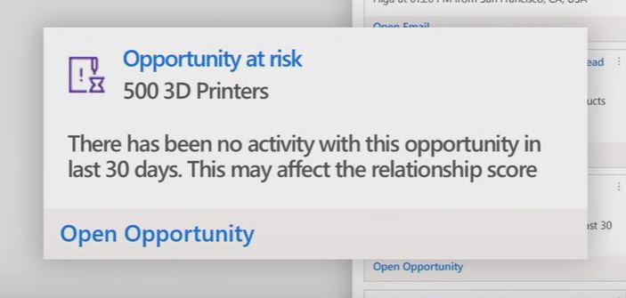Microsoft Dynamics 365 fall release relatie-inzichten feature: screenshot 02