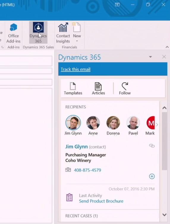 Microsoft Dynamics 365: integratie met Office 365