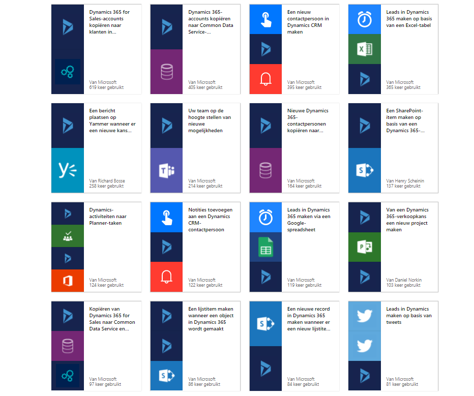 Net IT CRM blog: Microsoft Flow - Dynamics 365 sjablonen
