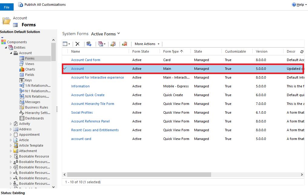Microsoft Dynamics 365: Editable Grid inschakelen voor een subweergave - stap 3