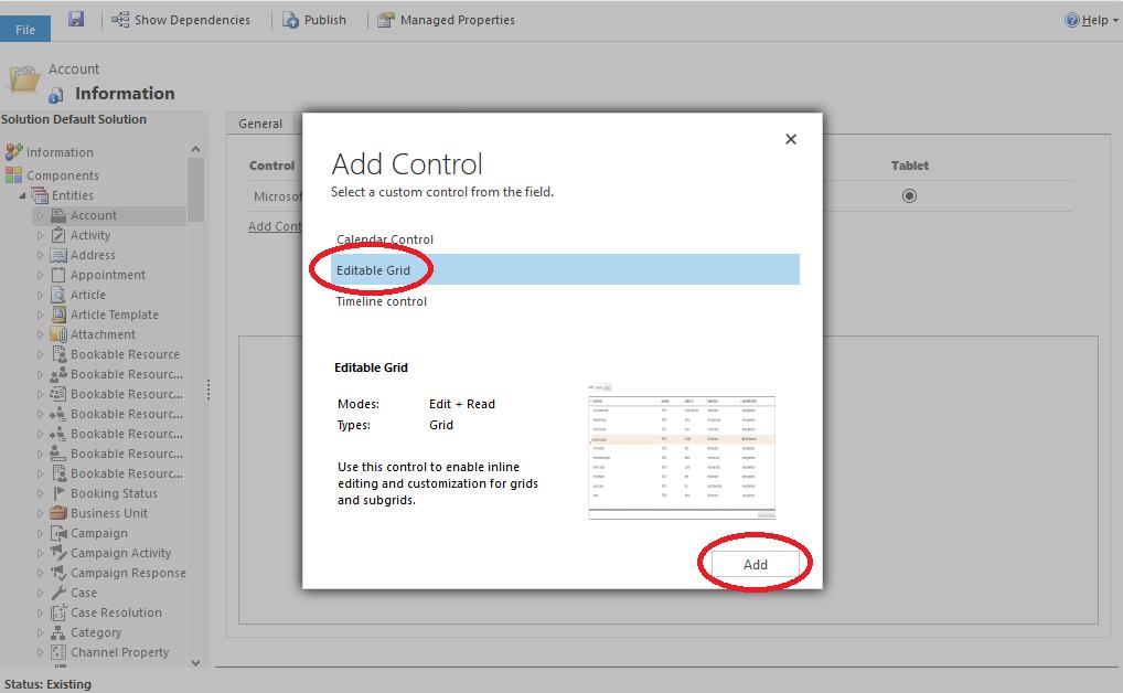 Microsoft Dynamics 365: Editable Grid inschakelen voor een algemene weergave - stap 4