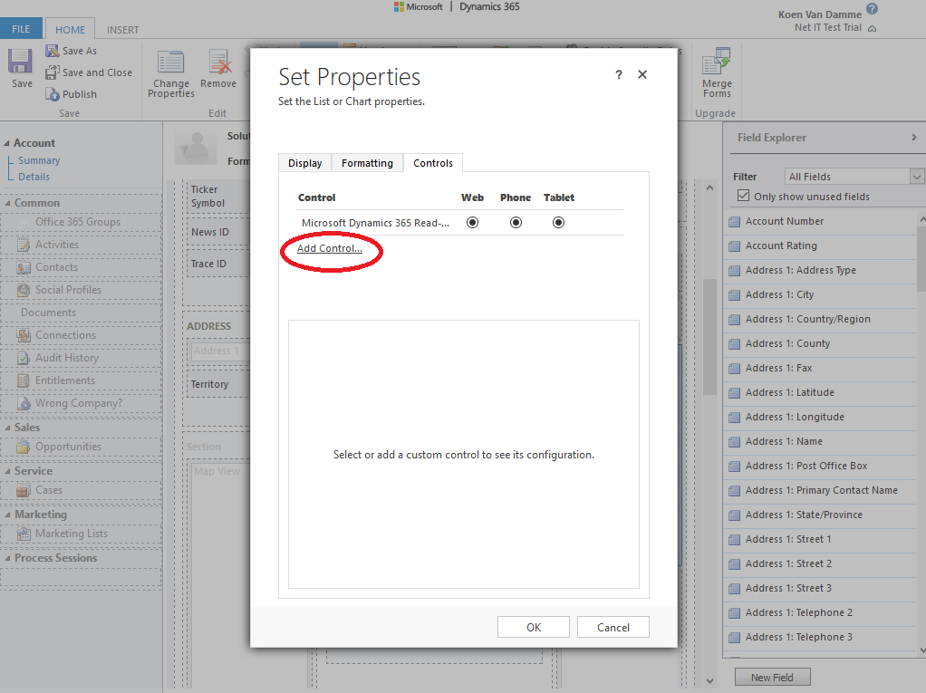 Microsoft Dynamics 365: Editable Grid inschakelen voor een subweergave - stap 6