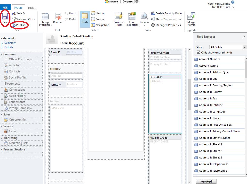 Microsoft Dynamics 365: Editable Grid inschakelen - stap 9