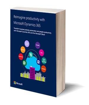 Cover E-book Microsoft Reimagine productivity with Microsoft Dynamics 365
