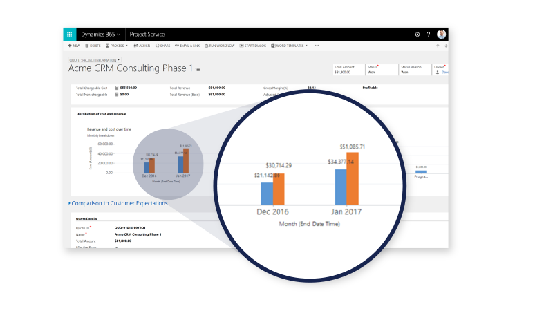 Net IT CRM blog: projectmanagement Microsoft Dynamics 365 voor Project Service Automation - screenshot opportunity management