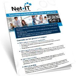 Cover Net IT Productfiche CRM voor notulenbeheer: website Net IT CRM downloads