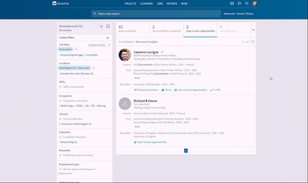 Net IT CRM blog: Microsoft en LinkedIn - screenshot Dynamics 365 for Talent