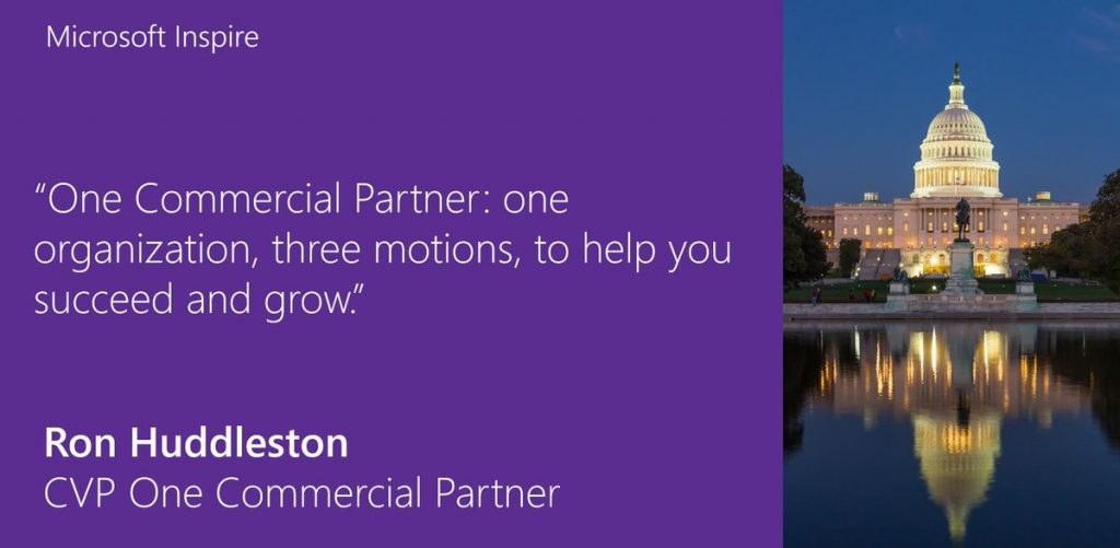 Net IT CRM blog: Microsoft Inspire 2017 - One Commercial Partner