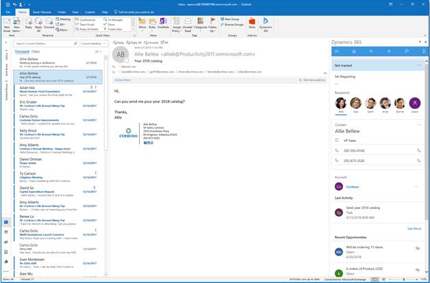 Net IT CRM Blog: Microsoft Dynamics 365 voor Outlook - screenshot 01