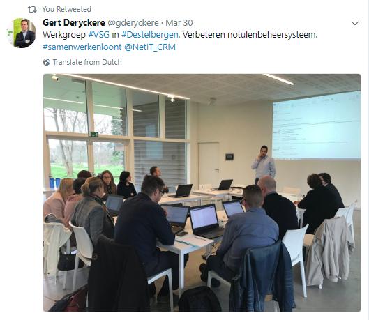 Net IT CRM blog: tweet CRM werkgroep voor lokale overheden