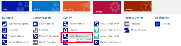 Net IT CRM Blog: Duplicatendetectie van Dynamics 365 - Bestaande regel inschakelen - stap 2 screenshot Data Management