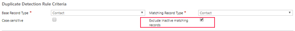 Net IT CRM Blog: Duplicatendetectie van Dynamics 365 - Bestaande regel inschakelen -stap 6 screenshot select exclude inactive matching records