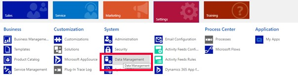 Net IT CRM Blog: Duplicatendetectie van Dynamics 365 - Nieuwe regel inschakelen - stap 2 screenshot Data Management