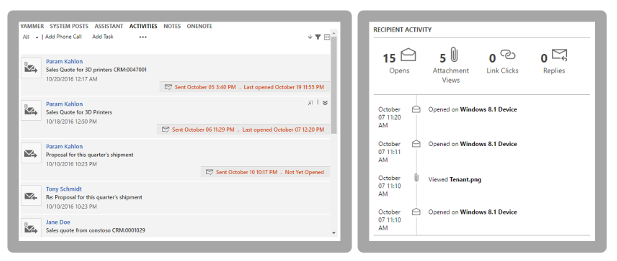 Net IT CRM Blog: Microsoft Dynamics 365 Spring ' 18 release - screenshot Email engagement