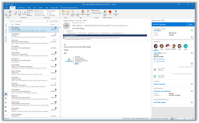 Net IT CRM Blog: Outlook category tracked to dynamics 365-screenshot