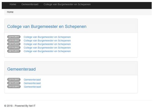 Net IT CRM Blog: Notulenbeheer met CRM - screenshot 01 portaal digitaal vergaderen