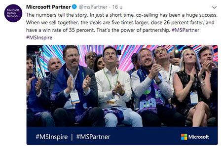 Net IT CRM Blog: Microsoft Inspire dag 2 - tweet Microsoft Partner