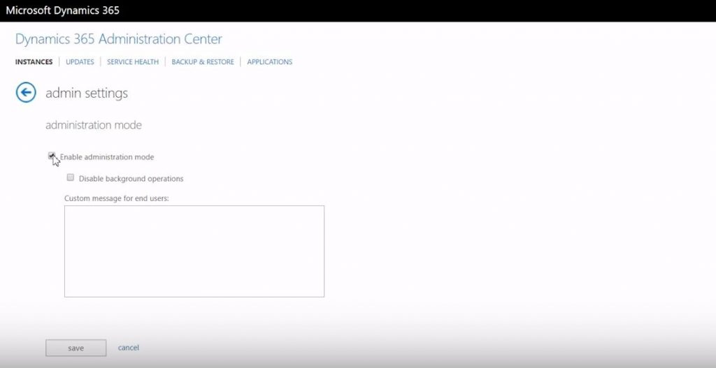 Net IT CRM Blog: Dynamics 365-Sandboxes - administration center screenshot
