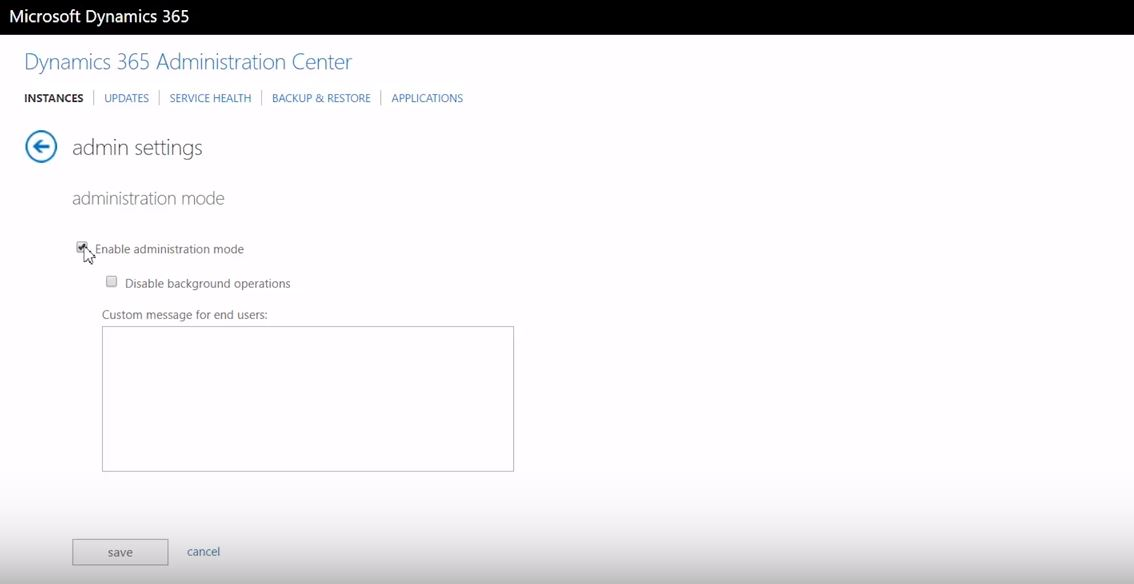 Net IT CRM Blog: Dynamics 365-Sandboxes - administration center screenshot