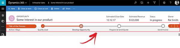 Net IT CRM Blog: Unified Interface Microsoft Dynamics 365 - Bedrijfsprocessen smal screenshot