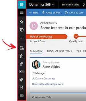 Net IT CRM Blog: Unified Interface Microsoft Dynamics 365 navigatiebalk - small screenshot