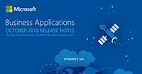 Cover release notes Oktober 18 update van Microsoft Dynamics 365