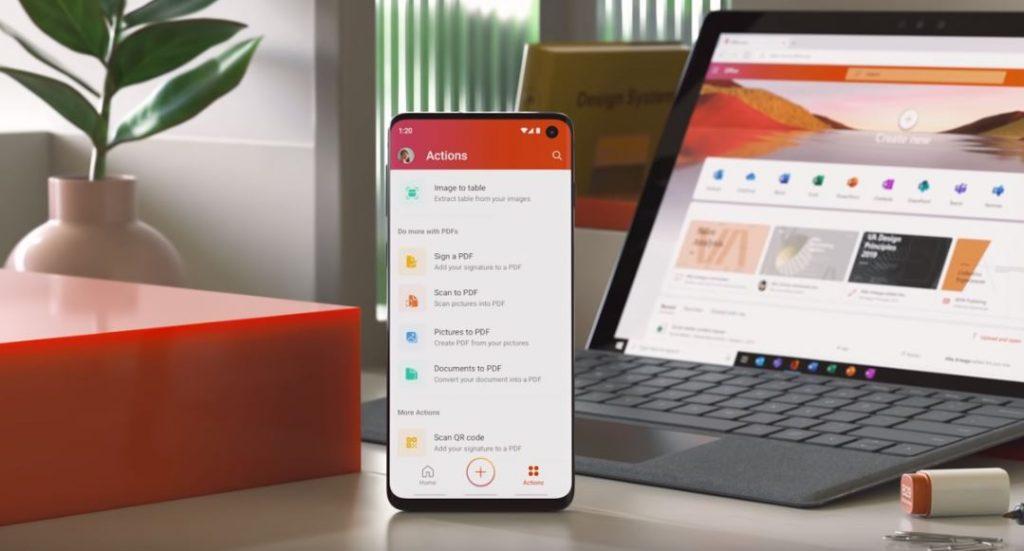 Foto new Microsoft Office app