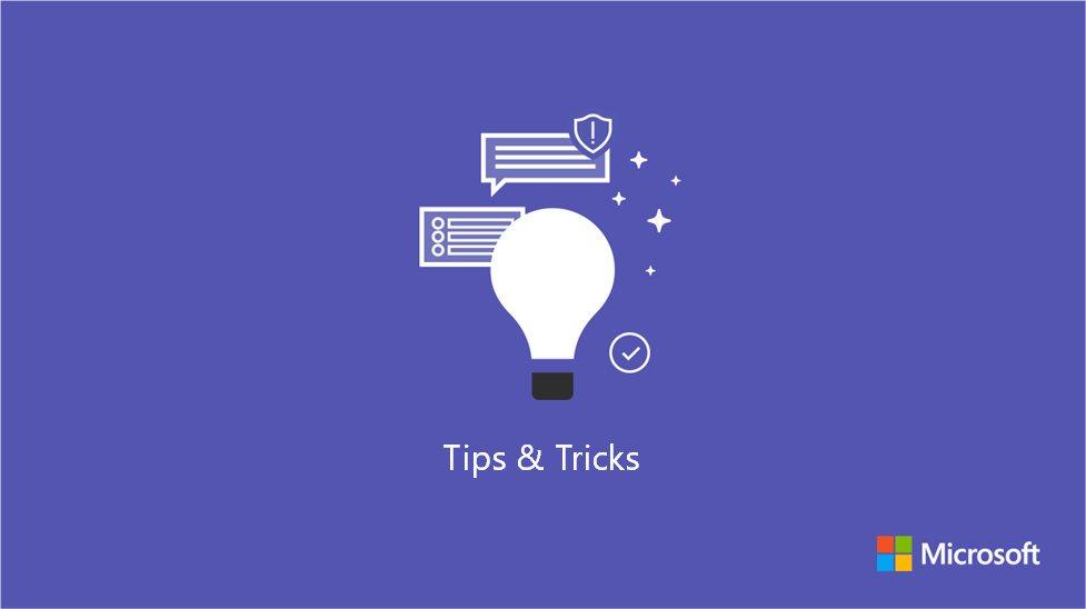 Microsoft Teams Tips en Tricks