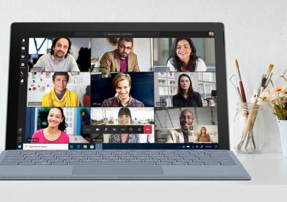 Afbeelding Microsoft Teams 9 personen