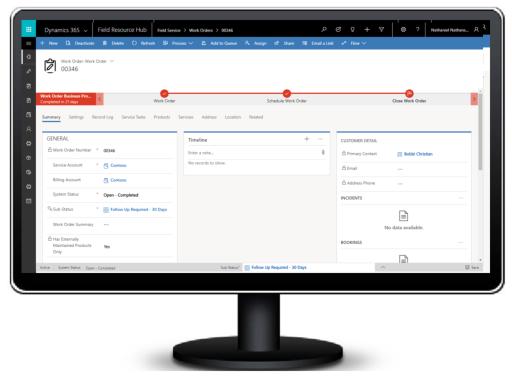 Dynamics 365 Field Service Resource Screenshot Voorraadbeheer