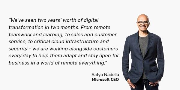 satya nadella quote on digital transformation