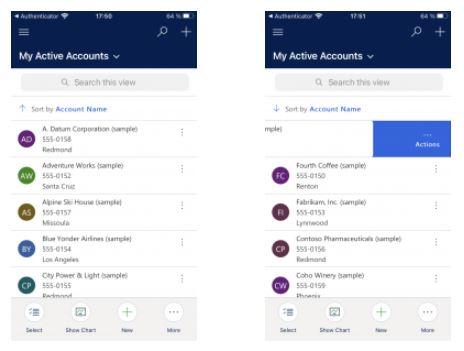 Microsoft Power Apps Mobile Optimized List Views