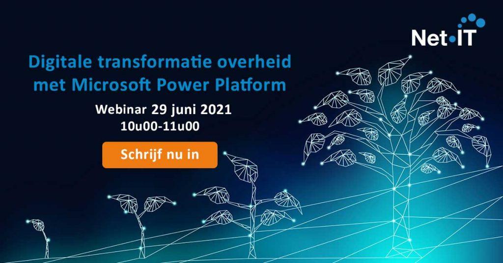 2021 Webinar Digitale transformatie Overheid Websitebanner