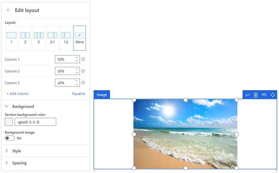 Dynamics 365 Marketing new email editor more editing capabilities