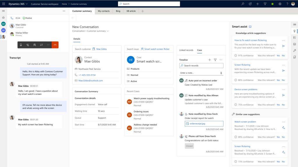 Dynamics 365 Customer Service Screenshot Omnichannel Voice