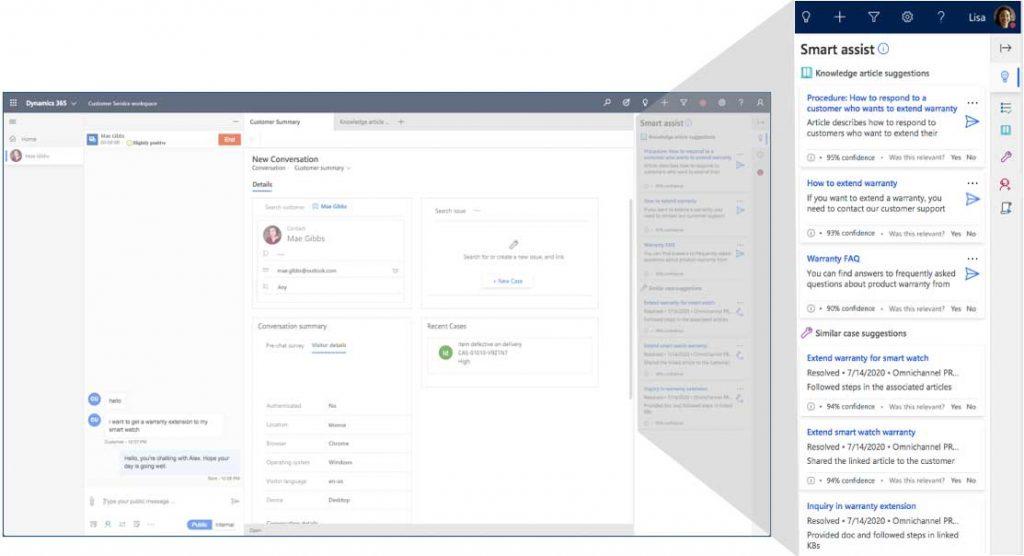 Dynamics 365 Customer Service Screenshot Smart Assist